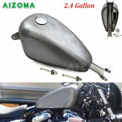 2.4 Gal Motorcycle Vintage Fuel Gas Tank And Cap For Harley Sportster Xl 883 1200