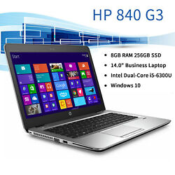 Hp Elitebook 840 G3 14 Fhd Touch I5-6300u 2.4ghz 8gb Ram 256gb M.2 Ssd Win 10