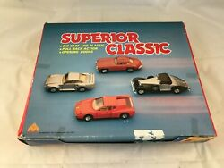 M.c. Toy Superior Classic Vintage Friction Car Set Of 12 Assorted Diecast Cars