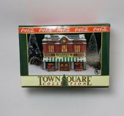 Coca-cola Town Square Collection Christmas Village Gilbert's Grocery