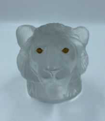 Saint Louis France Head Paperweight Crystal