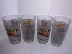 Set Of 4 Kentucky Derby Festival 1996 Glass With Makers Mark Mint Julep Recipe