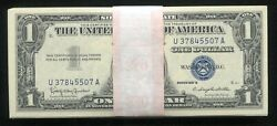 Lot Of 100 1957 1 One Dollar Blue Seal Silver Certificates Uncirculated