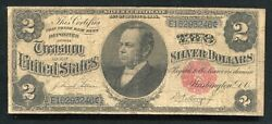 Fr. 246 1891 2 Two Dollars Andldquowindomandrdquo Silver Certificate Currency Noteandnbsp