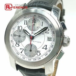 Baume And Mercier Mvo45216 Capeland Used Watch Ss Leather Belt Men's Silver