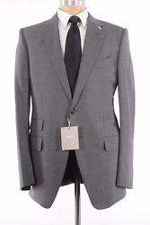 Tom Ford Nwt Suit Size 52 42r In Gray Black Birdseye Oand039connor Wool Blend