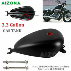 3.3gal Motorcycle Vintage Fuel Gas Tank For 04-06 Harley Sportster Xl 1200 883