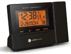 Ambient Weather Clearview Radio Controlled Projection Clock with Indoor Temp