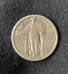 1928 Standing Liberty Quarter Ag About Good 90 Silver 25c Us Type Coin