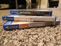 Ps4 Video Game Lot Destiny The Collection Battlefield 1 Uncharted 4