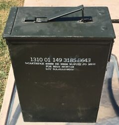 Military Metal Mortar Ammo Box Can 8 Cartridge 60mm For M224 Vintage