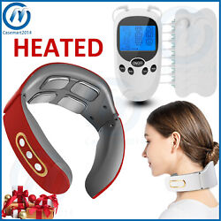 Electric Neck Massager Tens Unit Pulse Magnetic Muscle Relax Pain Relief Machine