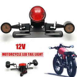 12v Modified Motorcycle Led Rear Brake Light Tail Lamp License Plate Turn Signal