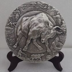2021 China Zodiac Cattle/ox Silver Medal 1229g China 2021 Cattle/0x Silver Medal