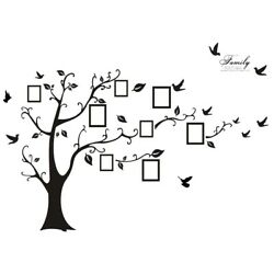 Wall Decor Large Black 3D DIY Adhesive Decal Family Wall Tree Stickers Mural Art