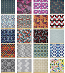Ambesonne Geometric Form Microfiber Fabric By The Yard For Arts And Crafts