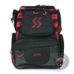 New Sougayilang Fishing Waterproof Tackle Backpack With Trays In Black / Red