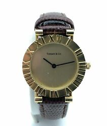 Vintage 18k Yellow Gold And Co. Atlas 23mm Ladies Watch