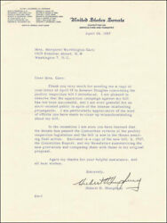 Hubert H. Humphrey - Typed Letter Signed 04/24/1957