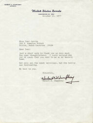 Hubert H. Humphrey - Typed Letter Signed 10/12/1977