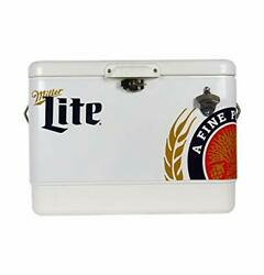 Stainless Steel Ice Chest - 85 Can Capacity With Bottle Opener, 54 Quarts/51