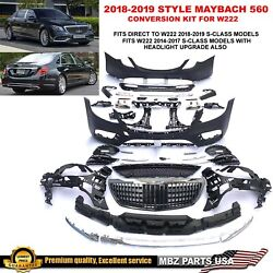 Maybach 560 Full Conversion Body Kit Bumpers Grille S63 S550 2018-up Style S560