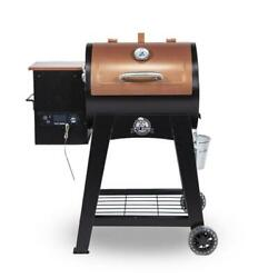 Pit Boss Wood Pellet Smoker Grill W/ Flame Broiler And Meat Probe Portable New