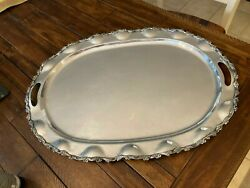 Huge Clean Heather Mexico Sterling Silver Tea Set Tray 2620gr 23.5 X 17.25