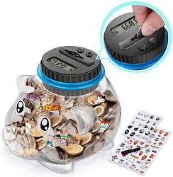 Coin Piggy Bank Counter Money Automatic Lcd Display Counting Jar Educational