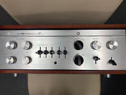 Luxman Cl-35/iii Stereo Vacuum Preamplifier Japan Wood Cabinet Phono Mm Perfect