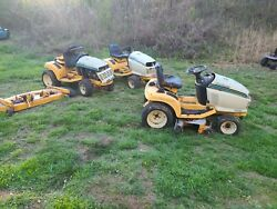 3 Vintage Cub Cadet Lawn Mowers And Homelite T16 Lawn Tractor