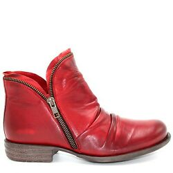 Miz Mooz Womenand039s Luna Ankle Boot In Red Antique