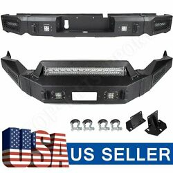 Textured Heavy Full Width Front And Rear Bumper W/ Lights For 13-18 Dodge Ram 1500