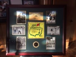 Jack Nicklaus Autographed Limited Edition Custom Framed And Certified Masters Flag