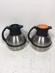 Two Zojirushi 62 Oz Stainless Steel Coffee Server Vacuum Insulated Carafes