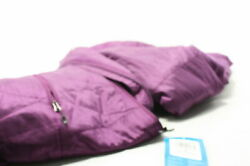 Columbia Womens Mighty Lite Hooded Jacket Wild Iris Purple Medium Omni Heat