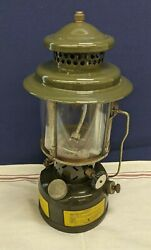 1977 Us Armstrong Army Green Camping Lantern Lamp Vintage Military Spec Gas