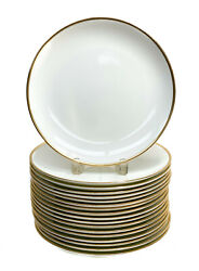18 And Co. Porcelain Palladium Dinner Plates Gold Band 2000