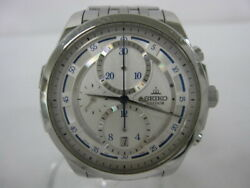 Seiko Credor Signo 6s37-00d0 Used Watch Chronograph White Dial Automatic Winding