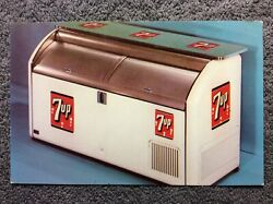 7up True Reach-in Coolers Advertising Postcard Seven Up