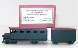 Train And Trooper Sn2 Sandy River And Rangeley Lakes Railbus 4 W/ Trailer T125