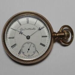 Elgin Pocket Watch 1891 18s 15j Grade 27 Bw Raymond Movement For Parts Or Repair