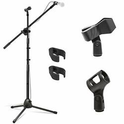 Kasonic Microphone Stand Heavy Duty Adjustable Collapsible Tripod Boom Mic