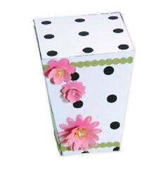 Retired Sizzix Bigz Xl Die Box Popcorn 656244 Gift Favor Boxes With Cover Long