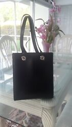 Cartier tote bucket bag black leather $195.00