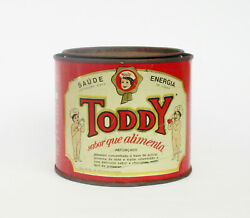 Vintage Chocolate Drink Mix Chocolate Milk Powder Toddy Tin Can Box. Collectible