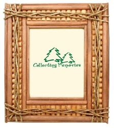 Rustic Lodge Cabin Log Wood Picture Frame Horizontal Or Vertical 5 X 7