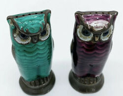 David Andersen Sterling Silver And Guilloche Owl Salt Pepper Shakers Norway