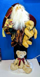 Boyds Holiday Collection 3ft Kringle B. Sparkleclause Santa Bears Statue 416