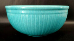 Vintage Redwing Gypsy Trail Reed Stoneware Ribbed Pottery Mixing Bowl 30s Mabc